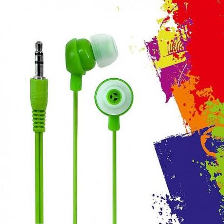 Słuchawki e5 Crazy Colour zielone