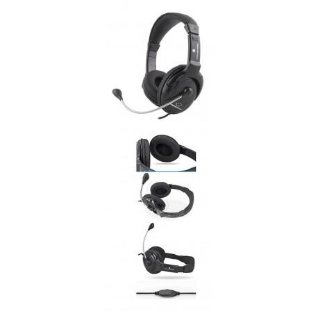 Słuchawki z mikrofonem Esperanza EH101 MANUET czarne