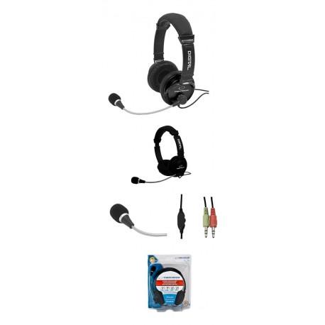 Słuchawki z mikrofonem Esperanza EH104 ADAGIO czarne