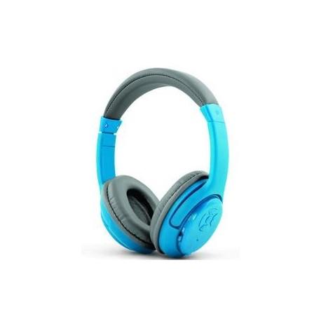 Słuchawki z mikrofonem Esperanza Libero bezprzewodowe szaro-niebieskie