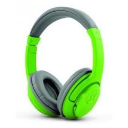 Słuchawki z mikrofonem Esperanza Libero bezprzewodowe szaro-zielone