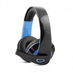 Słuchawki z mikrofonem Esperanza Condor Gaming czarno-niebieskie