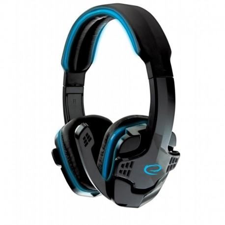 """Słuchawki z mikrofonem Esperanza """"Raven"""" Gaming niebieskie"""