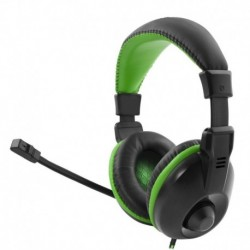 """Słuchawki z mikrofonem Esperanza """"Albatros"""" Gaming czarno-zielone"""