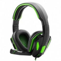 """Słuchawki z mikrofonem Esperanza """"Snake"""" Gaming czarno-zielone"""