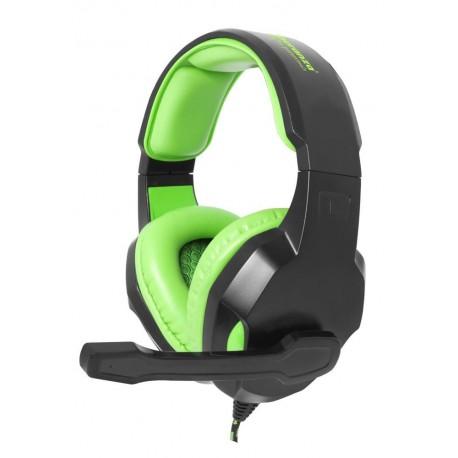 """Słuchawki z mikrofonem Esperanza """"Cobra"""" Gaming czarno-zielone"""