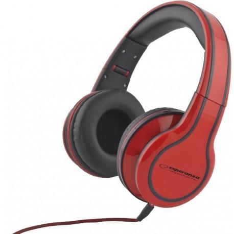 Słuchawki Esperanza EH136R czerwone
