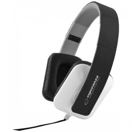 Słuchawki Esperanza EH137K Jazz czarno-białe