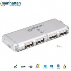 HUB USB Manhattan 4 porty 2.0 POCKET IUSB2-HUB599