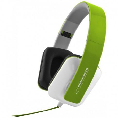 Słuchawki Esperanza EH137G Jazz zielono-białe
