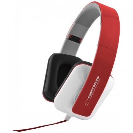 Słuchawki Esperanza EH137R Jazz biało-czerwone