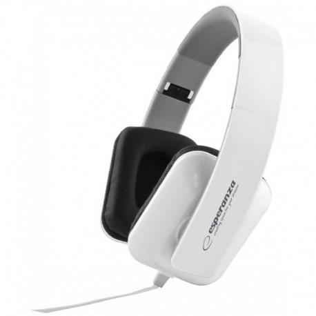 Słuchawki Esperanza EH137W Jazz białe