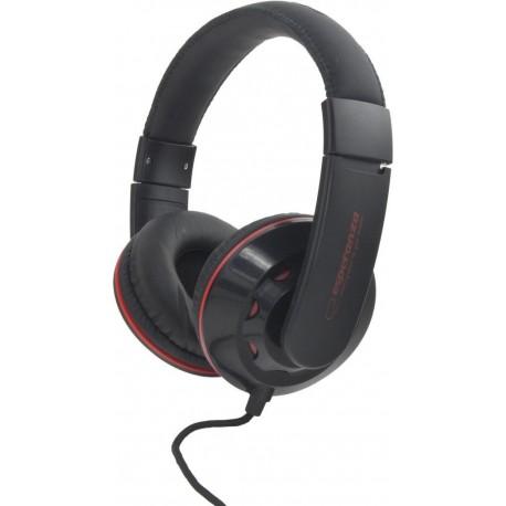 Słuchawki Esperanza EH144K Coral czarne