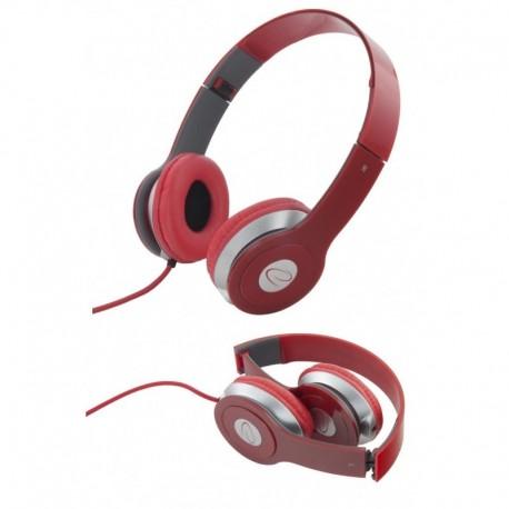Słuchawki Esperanza EH145R Techno czerwone