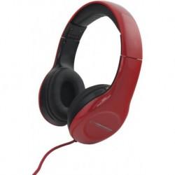 Słuchawki z mikrofonem Esperanza EH138R Soul czarno-czerwone