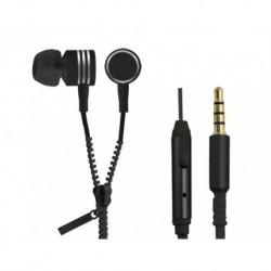 Słuchawki z mikrofonem Esperanza Zipper czarne