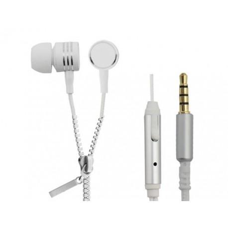 Słuchawki z mikrofonem Esperanza Zipper białe