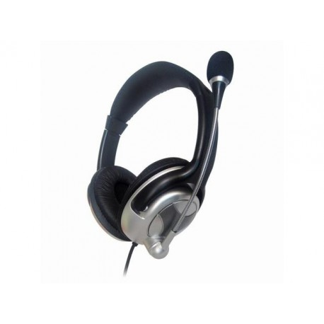 Słuchawki z mikrofonem Gembird MHS-401 czarno-srebrne