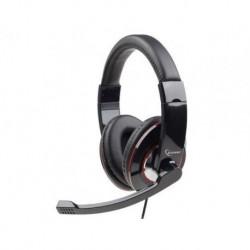 Słuchawki z mikrofonem Gembird MHS-001 czarne