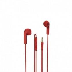 Słuchawki z mikrofonem Hama Advance czerwone