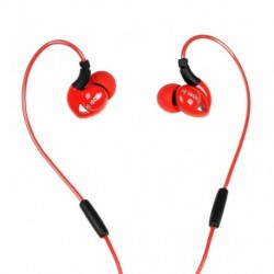 Słuchawki z mikrofonem iBOX S1 Sport czerwone