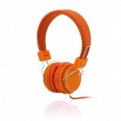 Słuchawki z mikrofonem iBOX D12 pomarańczowe