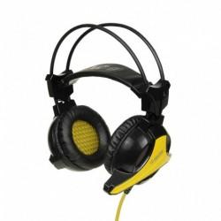 Słuchawki z mikrofonem iBOX X9 Gaming czarno-żółte