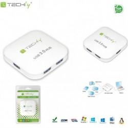 HUB USB Techly 4 porty 3.0 Super Speed, biały IUSB3-HUB4-WH