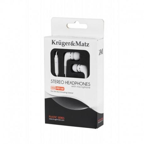 Słuchawki z mikrofonem KrugerandMatz białe