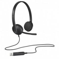 Słuchawki z mikrofonem Logitech H340