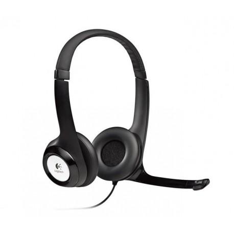 Słuchawki z mikrofonem Logitech H390 USB czarne