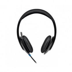 Słuchawki z mikrofonem Logitech H540 USB czarne
