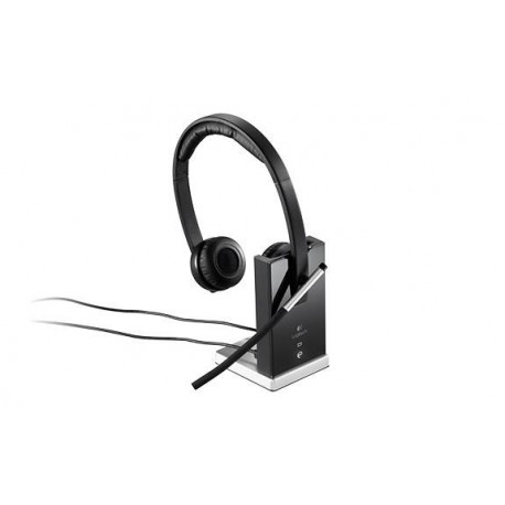 Słuchawki z mikrofonem Logitech Wireless Headset Dual H820e bezprzewodowe czarne