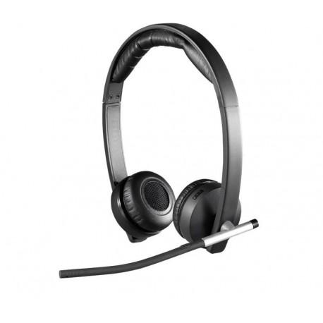 Słuchawki z mikrofonem Logitech H820e bezprzewodowe czarne