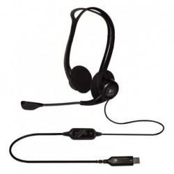 Słuchawki z mikrofonem Logitech OEM PC 960 czarne