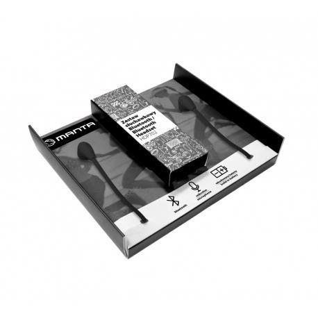 Słuchawki z mikrofonem Manta HDP702BK bezprzewodowe czarne