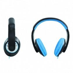 Słuchawki z mikrofonem Manta HDP801N Berry czarno-niebieskie