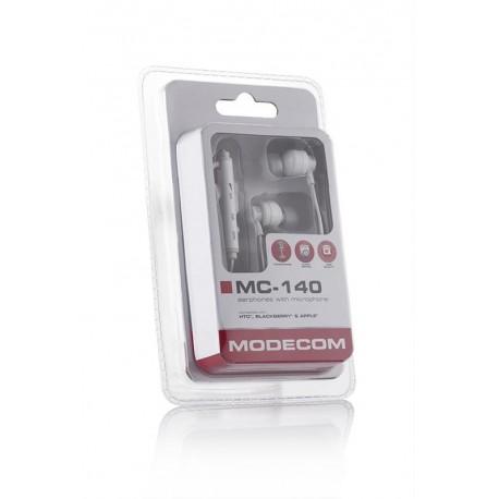 Słuchawki z mikrofonem MODECOM MC-140 białe