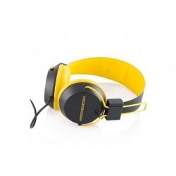 Słuchawki z mikrofonem MODECOM MC-400 CURCUIT czarno-żółte