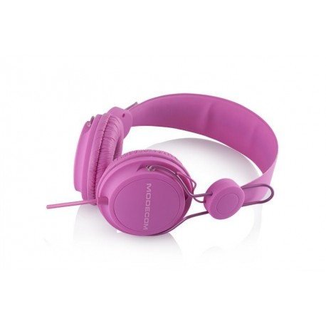Słuchawki z mikrofonem MODECOM MC-400 FRUITY różowe