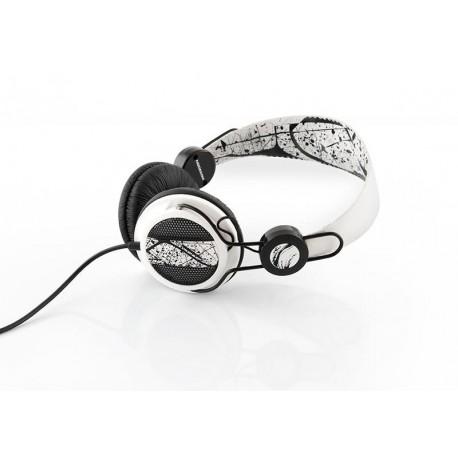 Słuchawki z mikrofonem MODECOM MC-400 FUNKY czarno-białe