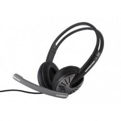 Słuchawki z mikrofonem MODECOM MC-816 czarno-szare