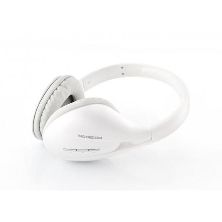 Słuchawki z mikrofonem MODECOM MC-900B-PURE bezprzewodowe bluetooth białe