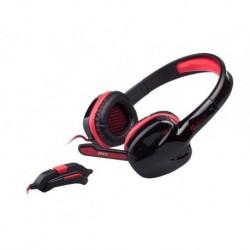Słuchawki z mikrofonem Genesis H22 Gaming czarno-czerwone