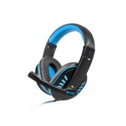 Słuchawki z mikrofonem Fury Nighthawk podświetlenie LED Gaming czarno-niebieskie