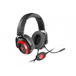 Słuchawki z mikrofonem Genesis Argon 500 Gaming czarno-czerwone