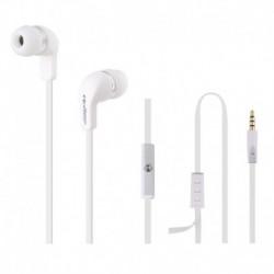 Słuchawki z mikrofonem Qoltec białe