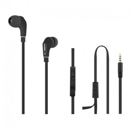 Słuchawki z mikrofonem QOLTEC 50806 czarne