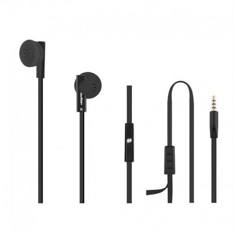 Słuchawki z mikrofonem Qoltec 50804 czarne