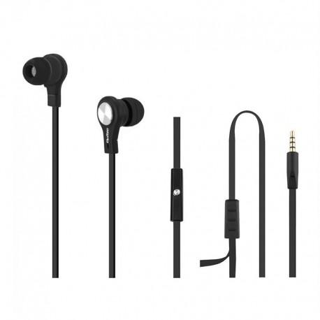 Słuchawki z mikrofonem QOLTEC czarne